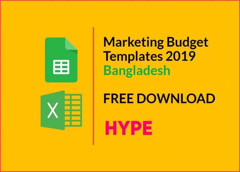 Marketing Budget Templates Bangladesh 2019